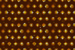 Seamless tiling pattern background with minimal gold disco ball, flashes, stars, sparkles. Wrapping paper in retro 80s style Stock Image