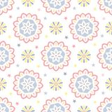Seamless tiling pattern with abstract ornaments Stock Image
