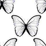 Seamless tiling repeating butterfly pattern vector illustration