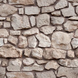 Seamless tiling stone wall Royalty Free Stock Photos