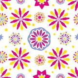 Seamless tiling abstract floral textures Royalty Free Stock Image