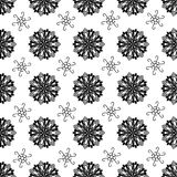 Seamless tiling texture with black ornaments Royalty Free Stock Photo