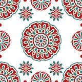 Seamless tiling texture with mandalas Stock Photos