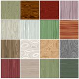 Seamless tiling wood textures collection Royalty Free Stock Images