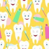 seamless tänder Royaltyfri Fotografi