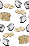 Seamless Toast Pattern Royalty Free Stock Images