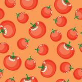 Seamless Tomato Background Stock Photos