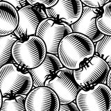 Seamless tomato background black and white Stock Photography