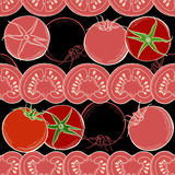 Seamless tomato background. Vector Stock Photography