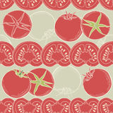Seamless tomato background. Vector Royalty Free Stock Images