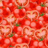 Seamless tomato Stock Photo