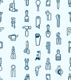 Seamless tool icon background stock illustration