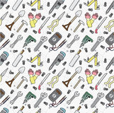 Seamless tool pattern Royalty Free Stock Image