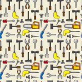 Seamless tool pattern Stock Images