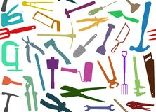 Seamless Tools Stock Image