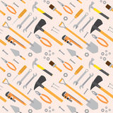 Seamless Tools Pattern Stock Photography