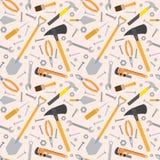 Seamless Tools Pattern Stock Image
