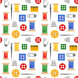 Seamless tools for sewing Stock Images