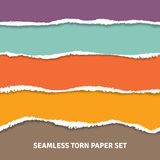 Seamless Torn Paper Concept Royalty Free Stock Photos