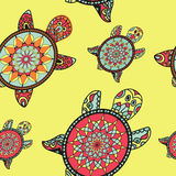 Seamless tortoise pattern in oriental style. Royalty Free Stock Image