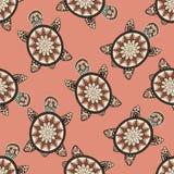 Seamless tortoise pattern in oriental style. Stock Photography