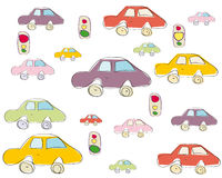 Seamless toy car pattern Royalty Free Stock Image