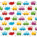 Seamless toy car and plane background Royalty Free Stock Images