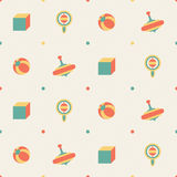 Seamless toy pattern Royalty Free Stock Photography
