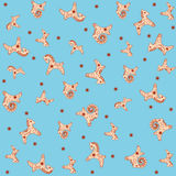 Seamless toy pattern Royalty Free Stock Images
