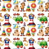 Seamless toys Royalty Free Stock Photo