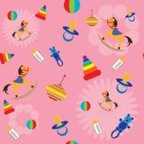 seamless toys för bakgrundsbarn Arkivbild