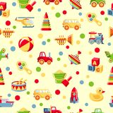 Seamless toys pattern Royalty Free Stock Image