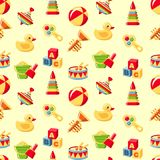 Seamless toys pattern Royalty Free Stock Photography