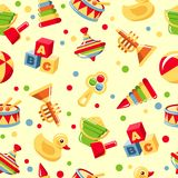 Seamless toys pattern Royalty Free Stock Images