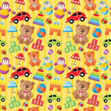 Seamless toys pattern. Royalty Free Stock Photos