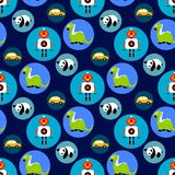 Seamless toys pattern for kids Stock Photos