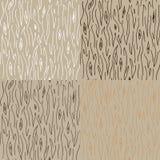 Seamless trä texturerar mönstrar Royaltyfri Fotografi