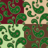 Seamless tracery in ethnic style Royalty Free Stock Photos