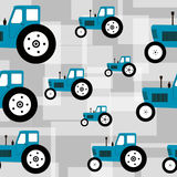 Seamless tractor pattern Stock Photography