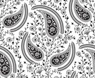 Seamless tradition Indian paisley pattern royalty free illustration