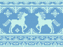 Seamless traditional embroidery Christmas pattern Stock Photography