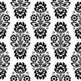 Seamless traditional floral polish pattern - ethnic background stock illustration