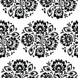 Seamless traditional floral polish pattern - ethnic background royalty free illustration