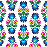 Seamless traditional floral polish pattern - ethnic background Royalty Free Stock Images