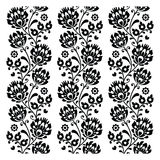 Seamless traditional folk polish pattern in black Stock Photo