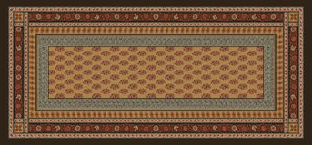 Seamless traditional geometric silk background royalty free illustration