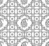 Seamless traditional indian paisley wallpaper Stock Photo