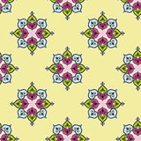 Seamless traditional indian flower background patt Royalty Free Stock Image