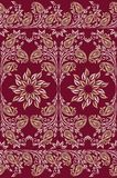 Seamless traditional indian paisley border Stock Images