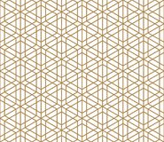 Seamless traditional Kumiko pattern. In color lines of medium thickness stock illustration